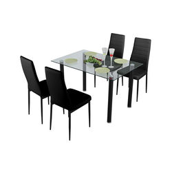 Amago 1+ 4 Dining Set,  black