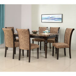 Spinel 6+ 1 Dining Set,  cappuccino