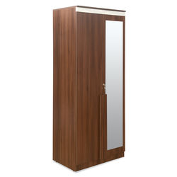 Eva 2 Door Wardrobe,  walnut