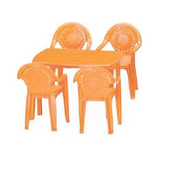 Toy Table Set,  bright red