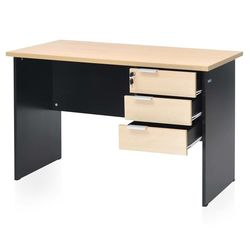 Brilliant Linear Work Station,  maple/black
