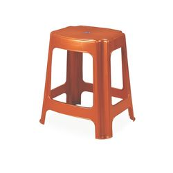 Stool 06,  bright red