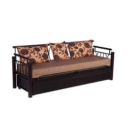 Flint Metal Sofa Cum Bed W Storage,  black
