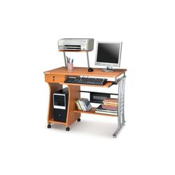 Gamma Computer Table,  walnut and beech