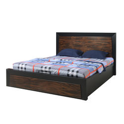 Henley King Bed,  black/oak