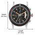 Maxima Attivo Black/Black Chronograph Watch