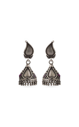 Garnet stone 925 silver earrings