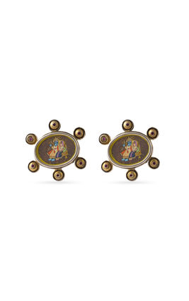PAINTING STONE EARRING