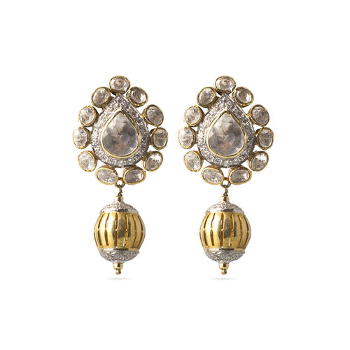 CZ Polki Earrings