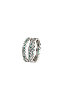 GREEN ONYX CZ DIAMOND BANGLES