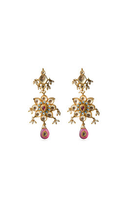 MULTI STONE KUNDAN EARRINGS