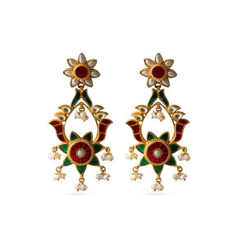Multi stone Kundan Earrings