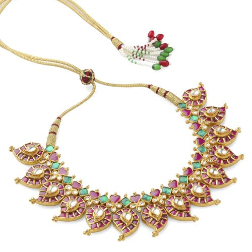MULTI KUNDAN MANGO DESIGN NECKLACE SET