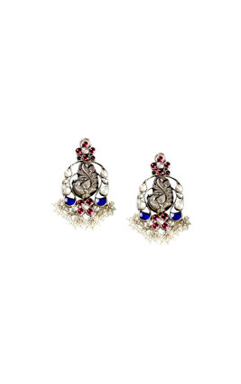 MULTI STONE PEACOCK AASHNA EARRINGS