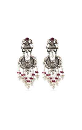 MULTI KUNDAN CHAND AASHNA LONG EARRINGS