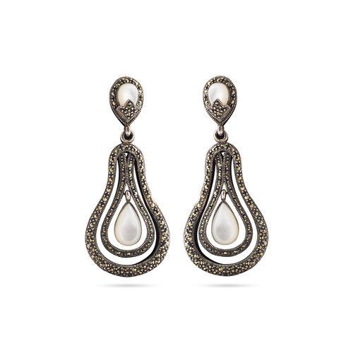 Silver marca earrings
