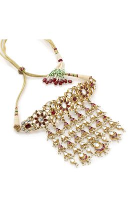 MULTI KUNDAN FLOWER DESIGN CHOKAR NECKLACE SET