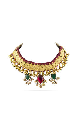 THUSI DESIGN KUNDAN NECKLACE SET