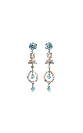 Aqua blue CZ earrings