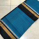 SC0900004- Varnam Handwoven Jacquard silkcotton- blue black beauty