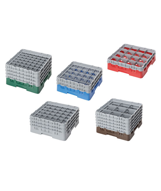 25 Compartment Washcrates with 4 Extender (8.5'')