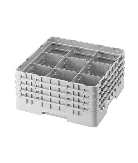9 Compartment Washcrates with 4 Extender