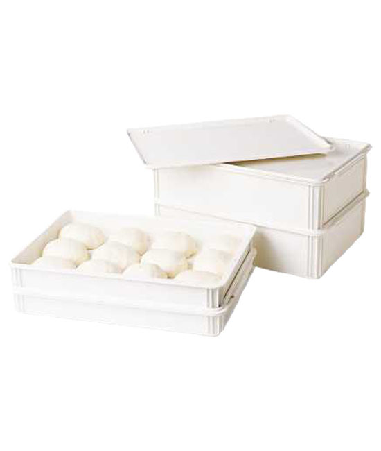 Full Size Flat Seal Cover for Pizza Dough Boxes Polycarbonate
