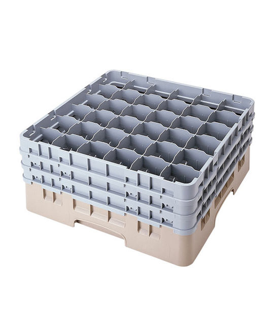 36 Compartment Washcrates with 3 Extender (6.5'')