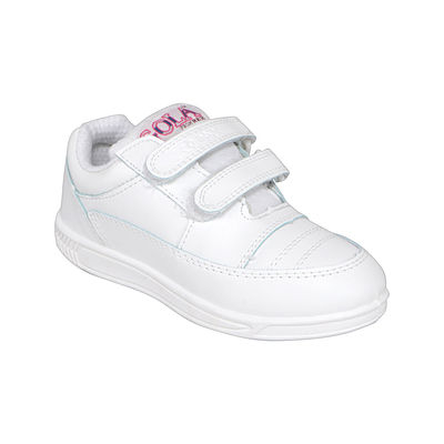 Rex Smart Gola 1260 White Velcro School Shoes, 3