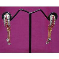 American diamond and ruby earrings-EG066