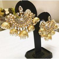 Gorgeous earrings in kundan-KEG122