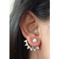 Half ear cuffs in American diamond-EG081