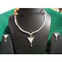 American diamond pendant set-PD044
