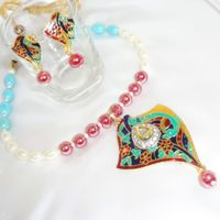 Meenakari necklace with beads-MD045