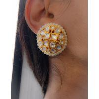 Kundan stud earrings for women - KEG157