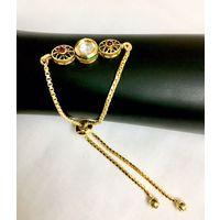 Adjustable size kundan bracelet - BL026