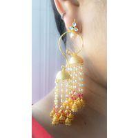 Long earrings in kundan - KEG152