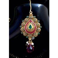 Hasli necklace set in Polki - KNL090