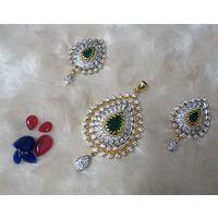 Beautiful changeable American diamond Pendant set-PD054