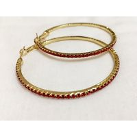 Big size Red hoops for women - EG285
