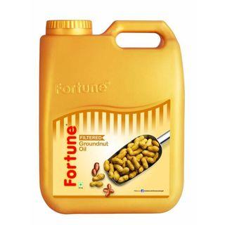 Fortune Groundnut Oil, 5 lt, jar