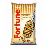 Fortune Groundnut Oil, pouch, 1 lt