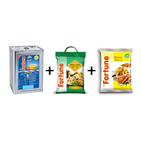 Combo of Plus Cottonlite Oil tin 15 kg+ Biryani Special Rice 5 kg+ Besan 1 kg pouch