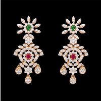 Diamond Earrings, 9.47cts, 18k 50.44gms, e/f-vvs