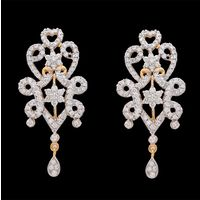 Diamond Earrings, 4.19cts, 18k 23.63gms, e/f-vvs