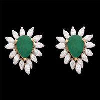 Diamond Earrings, 1.80cts, 18k 9.63gms, e/f-vvs