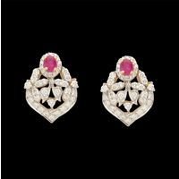 Diamond Earrings, 2.80cts, 18k 14.56gms, e/f-vvs