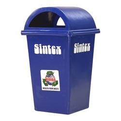 Rectangular waste bins, 100 litres, midnight blue