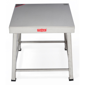 Champak Stool Stainless Steel Table 12 Inch