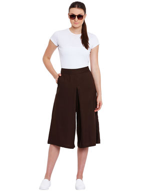 Brown Culottes with Side Pockets, brown, s